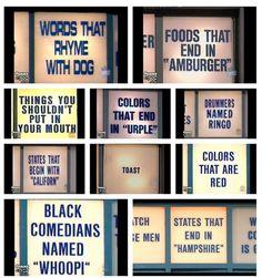 Hilarious celebrity jeopardy categories snl