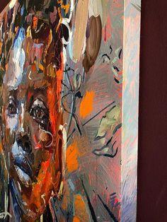 Chris Denovan | Thistle (2020) - available for sale | StateoftheART Sun Painting, Painting Edges, Canvas Size, Oil On Canvas, Contemporary Portrait Artists, Original Paintings, Fine Art, Artwork, Work Of Art