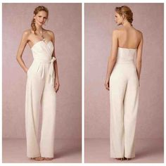 Ivory Chiffon Reception Jumpsuit For Bridal Wedding After Party Reception Dresses With Side Pockets Removable Sash Sweetheart Wedding After Party, Wedding Party Dresses, Wedding Reception, Reception Dresses, After Prom Dresses, Bridesmaid Outfit, Dress Picture, Overall, Fashion Photo