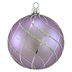 Lavender With Iridescent Glitter Round Glass Ornament - 1116093 - $10.99 ~~ Okay, I love these, WT!!
