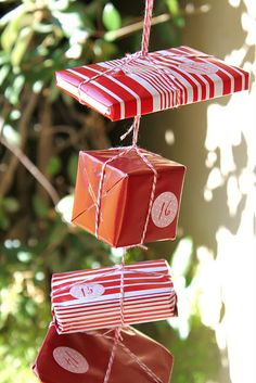 Cute idea for advent calendar.  Can use small and cheap things such as matchbox cars, chapstick, etc.