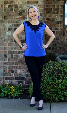 @kimscravings This Willard Lace Overlay Blouse by BRIXON IVY really pops on you!