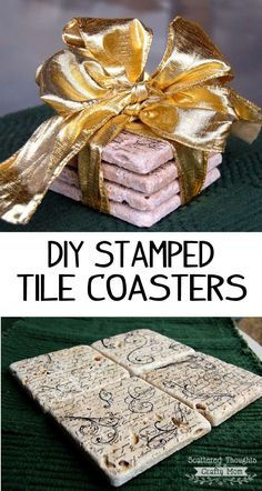 Christmas is almost here!  I have been busy working on a few handmade gifts for our neighbors, friends and family.  These Stamped Tile Coasters are an easy project that takes less than 20 minutes from start to finish. We have a box of 4 X 4 tumbled Travertine tiles in the garage left over from …