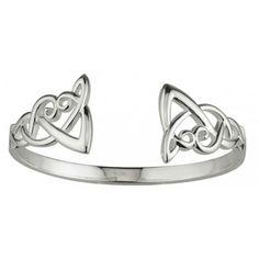 Sterling Silver Celtic Knot Torc Bangle Heavy - Bracelets ...