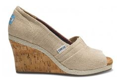 Amery Burlap Women's Wedges- another options for bridesmaid shoes