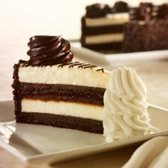 Striped chocolate cheesecake. Who needs love when you've got cake?