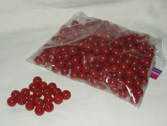 Marbles Glass Red 300 pcs Great for Crafts by WMCraftSupplies