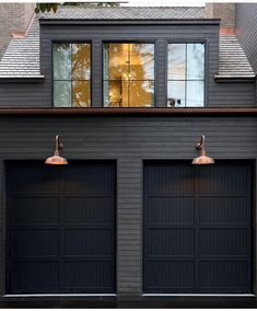 Dark Exterior Color Trend: Why We Love It – Studio McGee It's quite simple to really have a home that … Black House Exterior, Exterior House Colors, Interior Exterior, Exterior Design, Farmhouse Exterior Colors, Garage Exterior, Garage Door Design, Building Exterior, Exterior Paint Colors