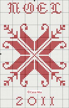 Noel snowflake cross stitch point de croix