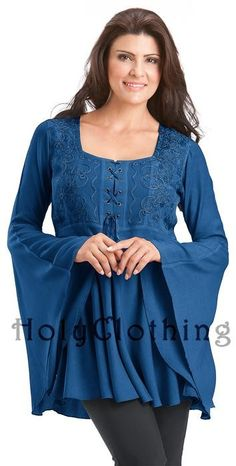 Womens Lacing Tops Short Lace Sleeves Square Neck Renaissance