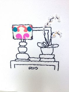 Embroidery on canvas Gifts For Family, Bobs, Embroidery, Canvas, Projects, Pattern, Fun, Tela, Log Projects
