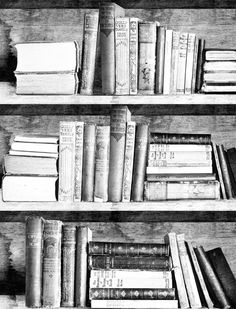 Bookshelf Wallpaper Photocopy