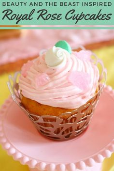Learn how to make these delicious rose themed cupcakes for your next Beauty and The Beast party! has the simple recipe to get you started. Festive Crafts, Beauty And The Beast Party, Snack Recipes, Snacks, Diy Wedding Projects, Themed Cupcakes, Party Planning, Make It Simple, Deserts