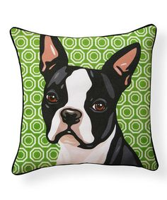 Boston Terrier Pillow #zulily #zulilyfinds