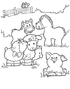 little people coloring pages 9 free printable coloring pages - Animal Coloring Pages For Preschoolers
