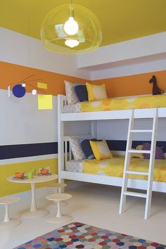 Trendy and Timeless: 20 Kids' Rooms with simple decor in Yellow and Blue