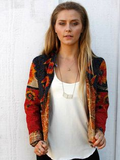 Vintage Kantha Jacket - wings hawaii - Maui Jewelry, Handmade Jewelry