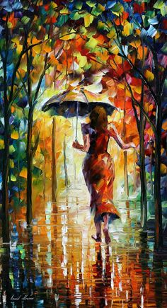 Running Towards Love 2 — PALETTE KNIFE Figure Oil Painting On Canvas By Leonid Afremov, $319.00