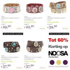Actie van de dag: Tot 70% korting op #Noosa armbanden, #chunks en #sieraden en tassen bij Vente-Exclusive  #mode #KortingsWijzer #Korting