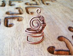 Anello Steampunk In Rame anticato dimensioni regolabili