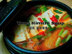 Kimchi Jjigae. So spicy. Cut down the cayenne pepper. Also didn't add the hot peppers. Spam is good too.
