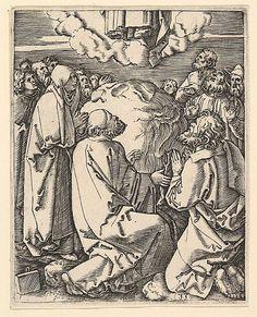 Marcantonio Raimondi; The Ascension (Italian engraving after Durer, c. 1500-34); Metropolitan Museum of Art, New York