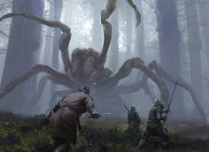 13 dwarves and a hobbit fighting spiders in a dark forest....OH. if this is in the movie....i just happen to be seeing the movie with an arachnaphobic person....oh dear. da hobbit will be the best night ever.