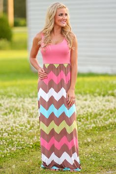 Flavor Of The Month Chevron Maxi Dress from Closet Candy Boutique #fashion #shop #ootd #dress #chevron