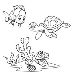 fish coloring pages free android iphoneipad app for kids