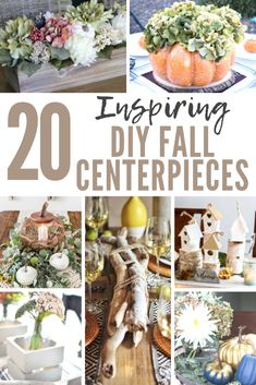 Inspiring Fall Centerpieces Decorating for fall is the most fun of all! These Inspiring Fall Centerpieces will have you excited for pumpkins and autumn colours! Fall Candle Centerpieces, Fall Candles, Diy Thanksgiving, Thanksgiving Decorations, Table Decorations, Diy Design, Fall Projects, Diy Projects, Fall Diy