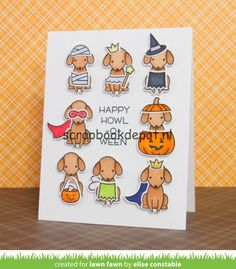 Scrapbookdepot - Lawn Fawn Clear Stamps 4x6inch - Happy Howloween - LF1206…