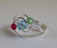 Handmade Wire Jewelry Birthstone Jewelry Birthstone by theWRAPstar, $14.95 Handmade Wire Jewelry, Beaded Jewelry, Wire Storage, Wire Rings, Jewelry Rings, Jewelery, Jewelry Making Tutorials, Jewellery Making, Birthstone Jewelry