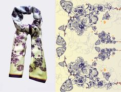 LISAN LY orchid scarf