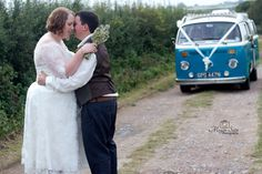 The happy couple. Couldn't leave out the camper!