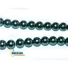 Perla Vidrio Gris 6mm(Tira)