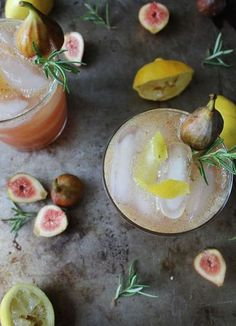 Fig and Lemon Cocktail