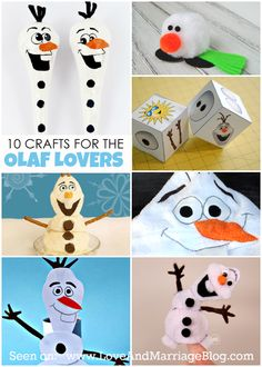 Frozen Crafts :: For The Olaf Obsessed | olaf | frozen | frozen party favors |