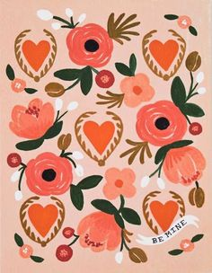 Trendy flowers illustration design rifle paper co ideas Rifle Paper Company, Illustration Inspiration, Valentines Illustration, Illustration Blume, Guache, Motif Floral, You Draw, Surface Pattern Design, Flower Prints