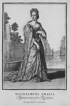 1703 Wilhelmina Amalia Romanorum Regina by Christoph Weigel after Caspar Luyken