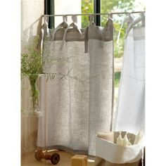 don't really like half curtains, but may be worth it for privacy...LINEN HALF CURTAIN