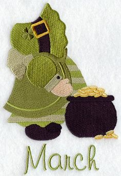 ** Sunbonnet Sue - March Block Of The Month Pattern Used As Applique Quilt @emlibrary
