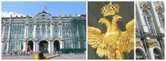 El palacio de invierno y el Museo Hermitage en San Petersburgo