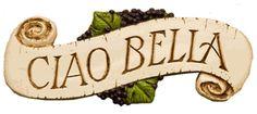 Ciao Bella Italian Decor wall plaque
