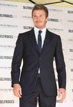 David Beckham Emporio Armani navy suit