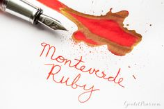 Looking for a great red fountain pen ink? Try Monteverde Ruby! See it at play in this helpful blog. Pin for later.