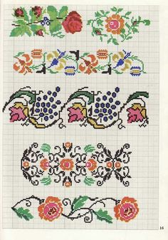 Cross Stitching, Cross Stitch Embroidery, Embroidery Patterns, Cross Stitch Designs, Cross Stitch Patterns, Cross Stitch Flowers, Needlework, Plastic Canvas, Kids Rugs