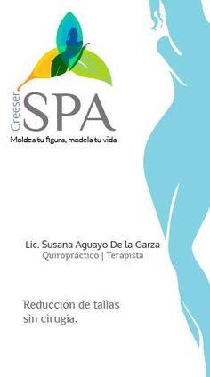 Tarjetas CreeSer SPA, masajes terapeuticos y relajantes. #diseño #logo #diseñografico #monterrey