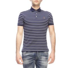 Shop Polo Ralph Lauren In Blue from stores. T-shirt T-shirt Men Polo Ralph Lauren Composition: Cotton Ralph Lauren Mens Shirts, Polo Ralph Lauren, Tartan Men, Lisa Robertson, Dress With Boots, Guys And Girls, Men's Chinos, Toxic Vision, Men's Polo