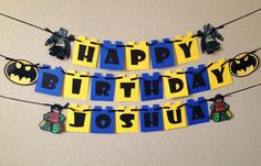 Lego Batman Batman birthday banner Lego by CuddleBuggParties