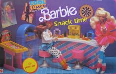 Cool Times Barbie SNACK TIME Playset w Snack Bar & MORE! 30 Pieces (1988) by Mattel. $289.99